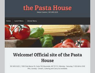 thepastahouse.org screenshot