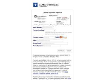customer.islandinsurance.com screenshot
