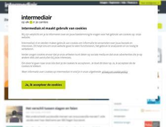 Main page screenshot of jobnews.nl