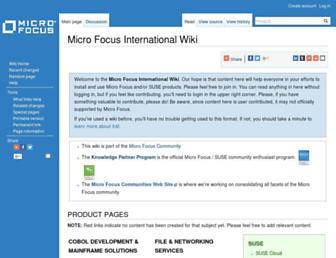wiki.microfocus.com screenshot
