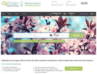 en.clipdealer.com screenshot