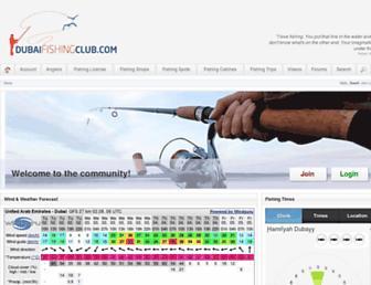 dubaifishingclub.com screenshot