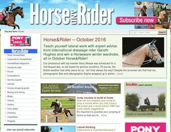 horseandrideruk.com screenshot