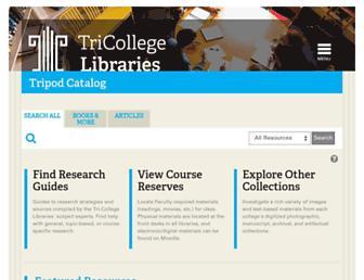 tripod2.brynmawr.edu screenshot