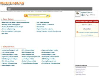highereducationinindia.com screenshot