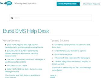 support.burstsms.com screenshot