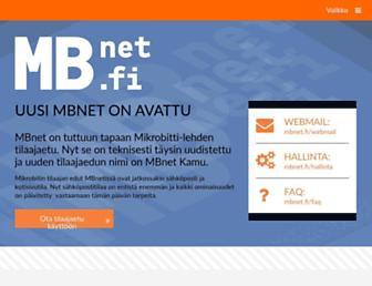 Main page screenshot of mbnet.fi