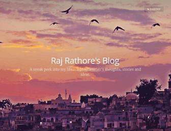 rajrathore.com screenshot