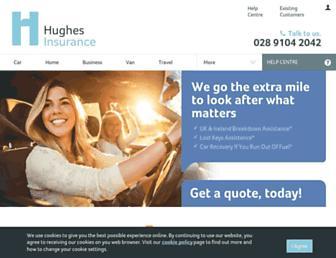 hughesinsurance.co.uk screenshot