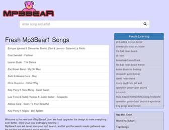 mp3bear1.com screenshot