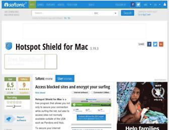 hotspot-shield-mac.en.softonic.com screenshot