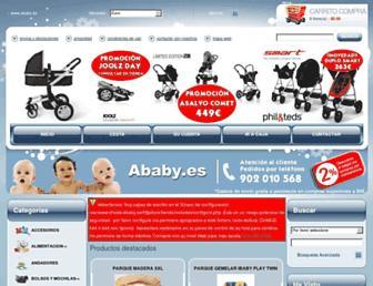 Main page screenshot of ababy.es