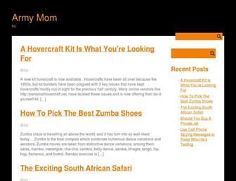 Main page screenshot of armymomnj.name