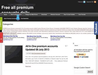 premiumaccounts2all.blogspot.com screenshot