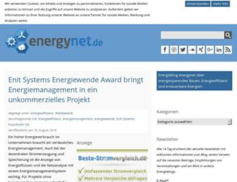 Main page screenshot of energynet.de