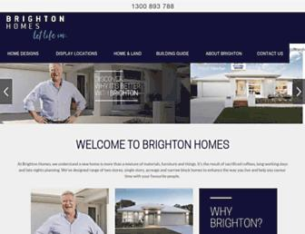 brightonhomes.net.au screenshot
