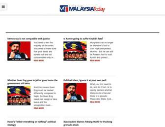 Main page screenshot of malaysia-today.net