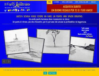 Main page screenshot of faroteatrale.it