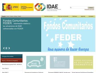 idae.es screenshot