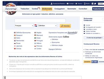dictionnaire.reverso.net screenshot