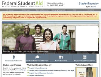 Thumbshot of Studentloans.gov