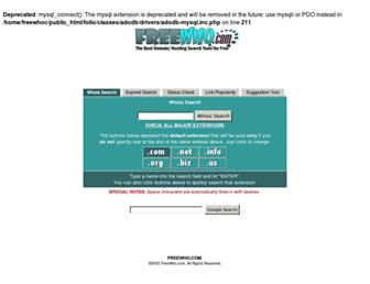 freewho.com screenshot