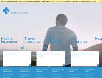 southerncross.co.nz screenshot