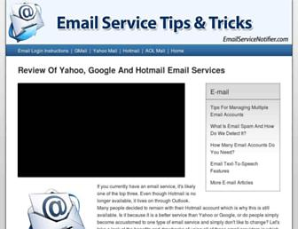 Thumbshot of Emailservicenotifier.com