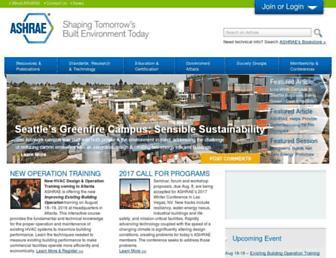 ashrae.org screenshot