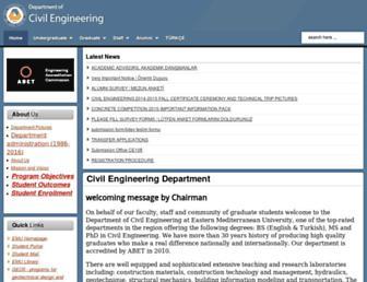 civil.emu.edu.tr screenshot