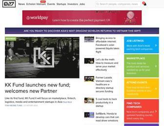 Main page screenshot of e27.sg
