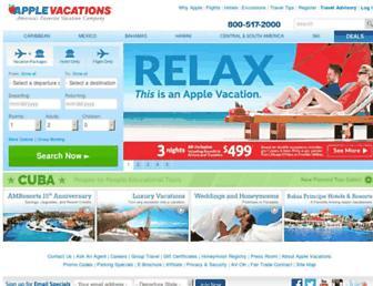 Thumbshot of Applevacations.com