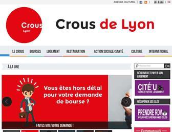 crous-lyon.fr screenshot