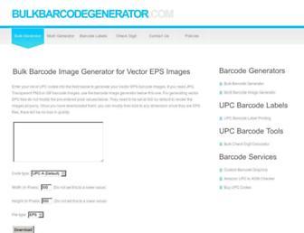 bulkbarcodegenerator.com screenshot