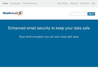 hushmail.com screenshot