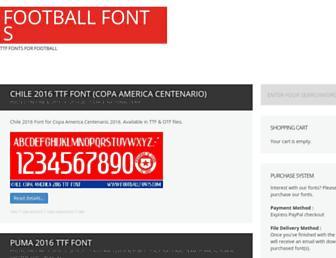 footballfonts.com screenshot