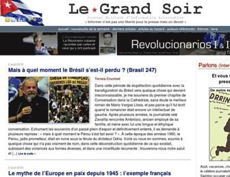 Main page screenshot of legrandsoir.info