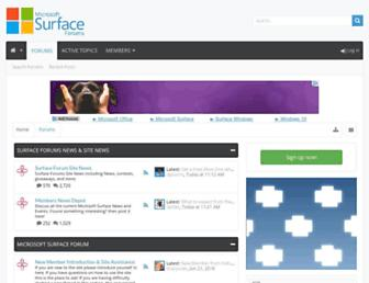 surfaceforums.net screenshot