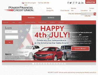 Main page screenshot of powerfi.org