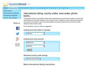 Thumbshot of Howtocallabroad.com