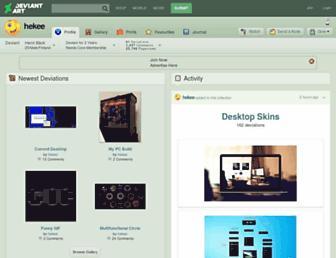 hekee.deviantart.com screenshot
