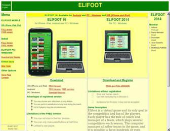 elifoot.com screenshot