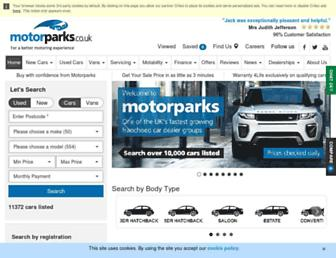 motorparks.co.uk screenshot
