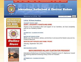 ibew702.org screenshot
