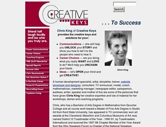 Main page screenshot of creativekeys.net