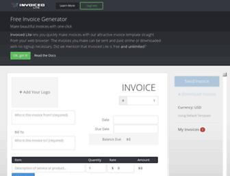 invoice-generator.com screenshot