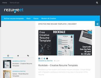 rezumeet.com screenshot