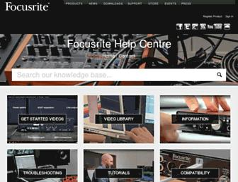 support.focusrite.com screenshot