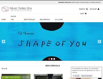 musicnotesbox.com screenshot