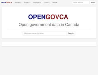 opengovca.com screenshot